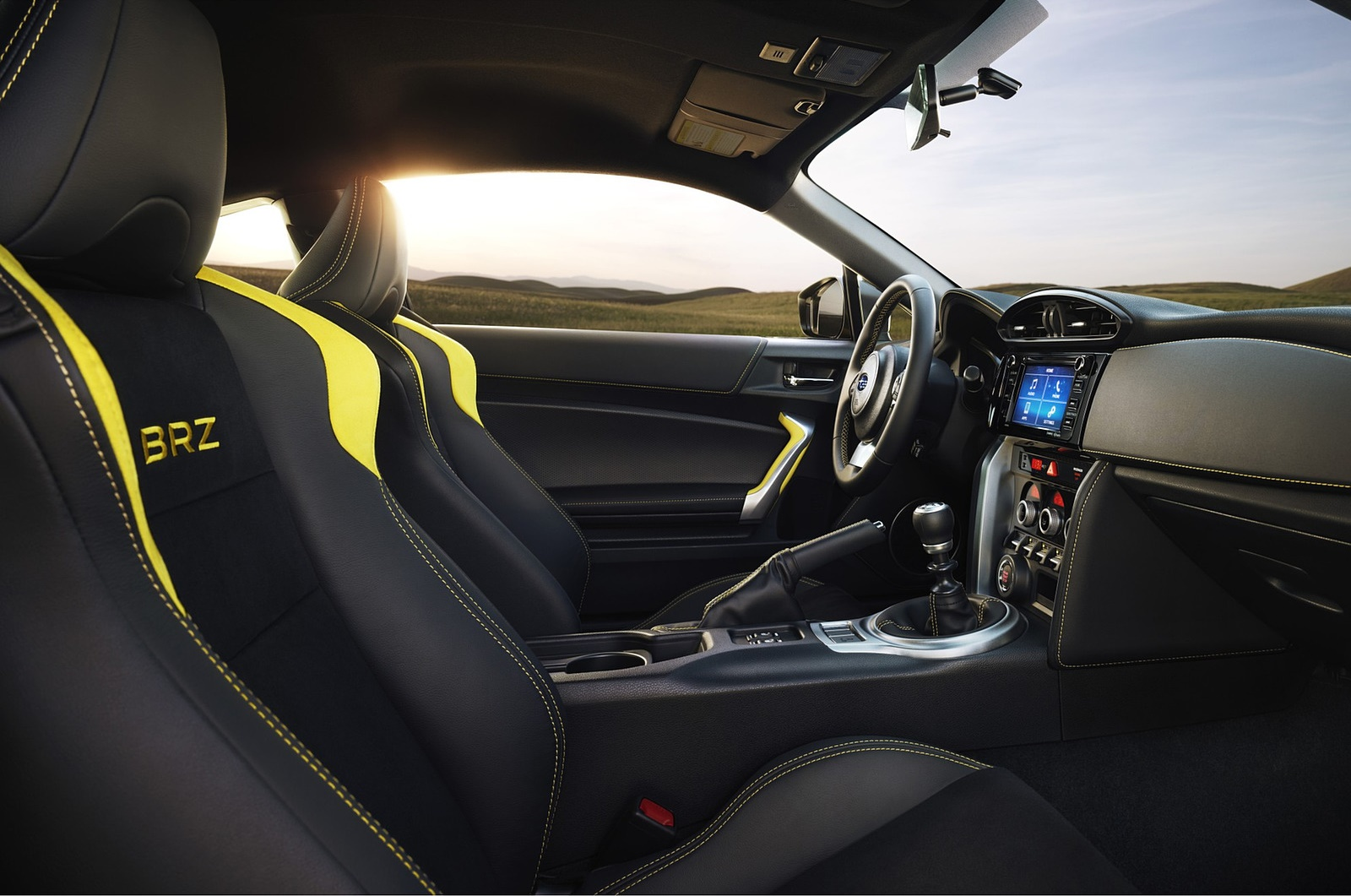 2017 Subaru BRZ Series.Yellow Interior Wallpapers (10)