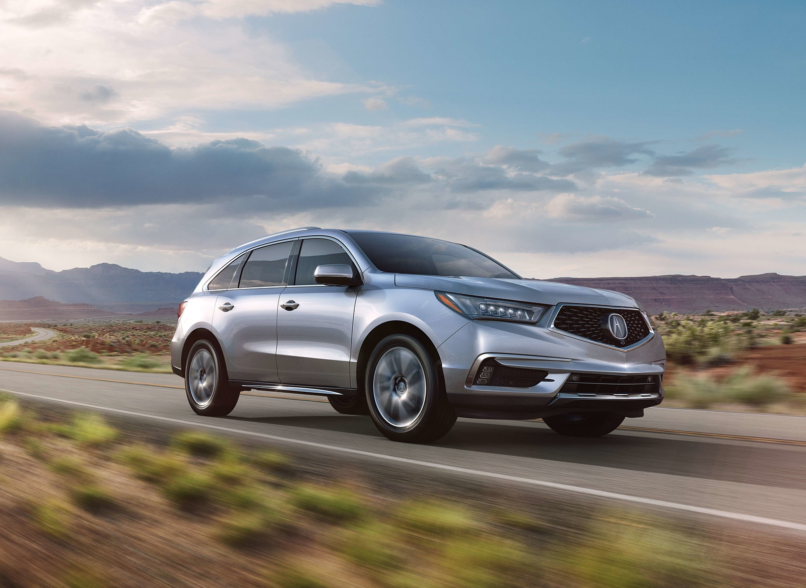 2018 Acura MDX Front Three-Quarter Wallpapers (1)