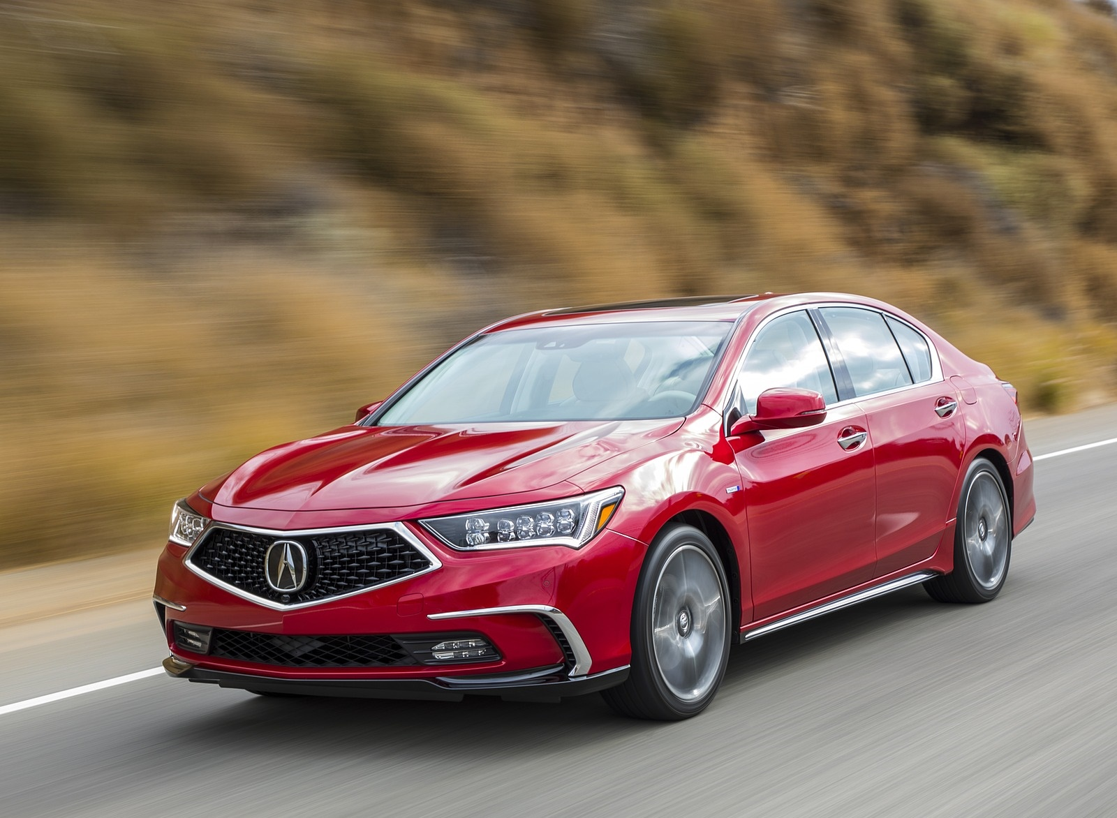 2018 Acura RLX Sport Hybrid Front Three-Quarter Wallpaper (8)