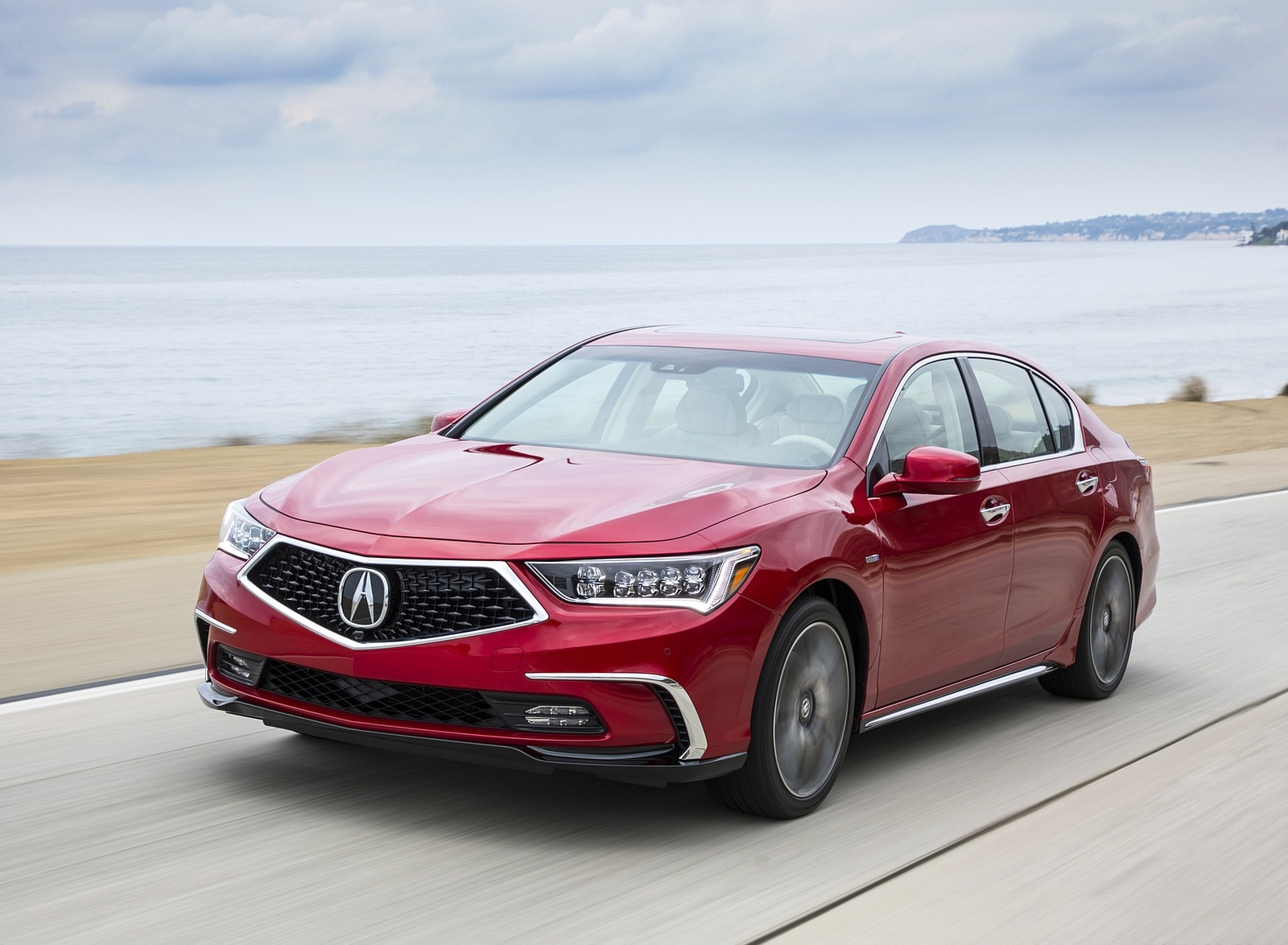 2018 Acura RLX Sport Hybrid Front Three-Quarter Wallpaper (2)