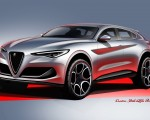 2018 Alfa Romeo Stelvio Design Sketch Wallpapers 150x120 (38)