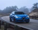 2018 Alfa Romeo Stelvio Quadrifoglio (Color: Misano Blue) Front Three-Quarter Wallpapers 150x120 (35)