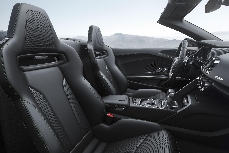 2018 Audi R8 Spyder V10 Plus (Color: Micrommata Green) Interior Seats Wallpaper (9)