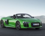 2018 Audi R8 Spyder V10 plus (Color: Micrommata Green) Front Three-Quarter Wallpapers 150x120 (4)