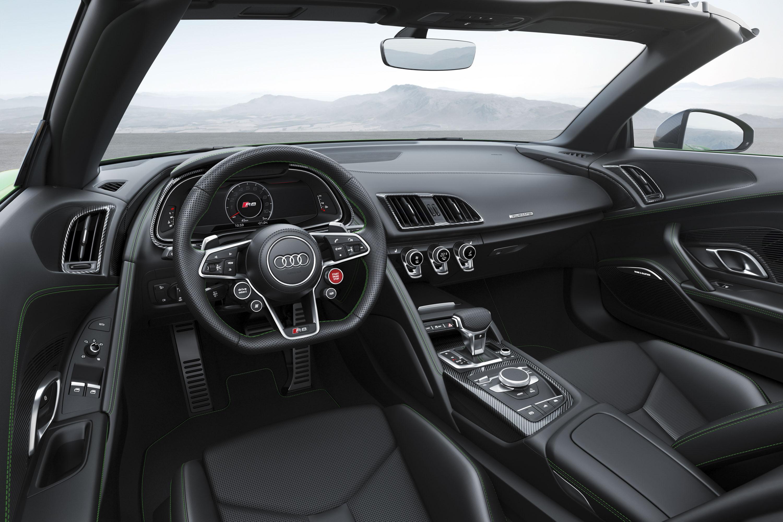 2018 Audi R8 Spyder V10 plus (Color: Micrommata Green) Interior Wallpaper (10)