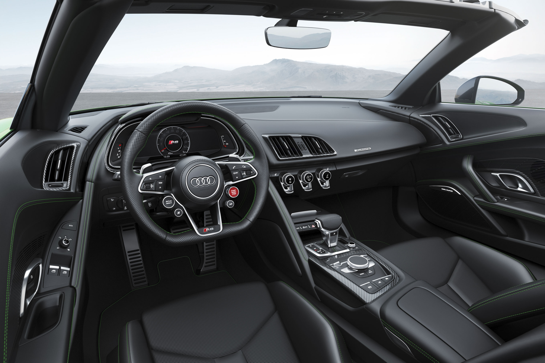 2018 Audi R8 Spyder V10 plus (Color: Micrommata Green) Interior Wallpapers (10)