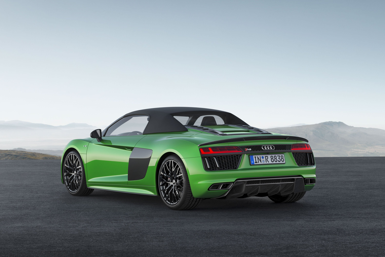 2018 Audi R8 Spyder V10 plus (Color: Micrommata Green) Rear Three-Quarter Wallpapers (5)