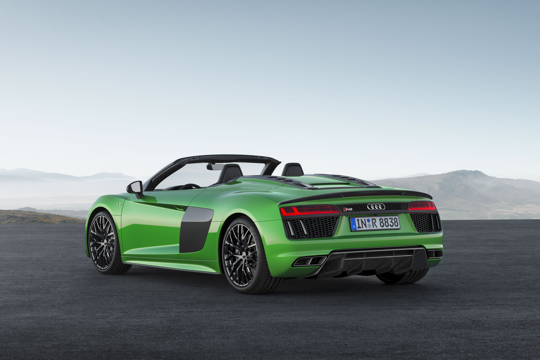2018 Audi R8 Spyder V10 plus (Color: Micrommata Green) Rear Three-Quarter Wallpapers (6)