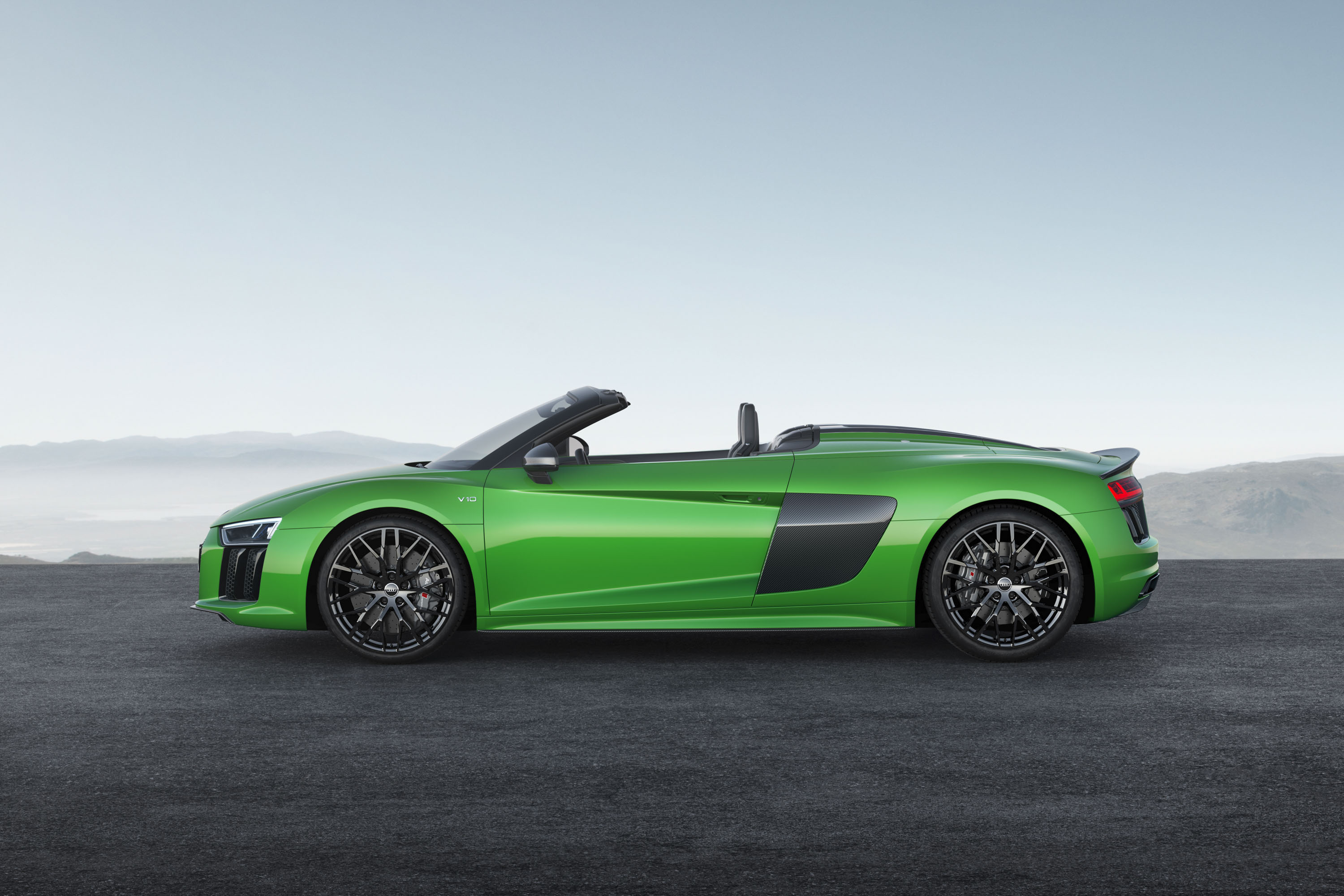2018 Audi R8 Spyder V10 plus (Color: Micrommata Green) Side Wallpapers (7)
