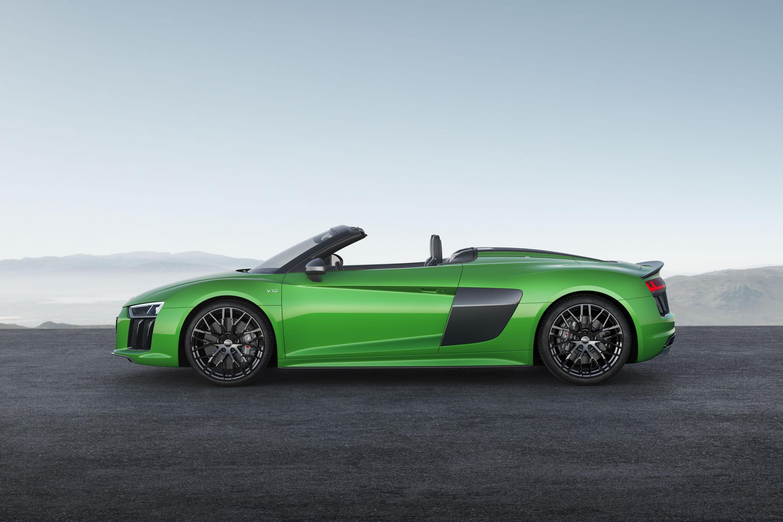 2018 Audi R8 Spyder V10 plus (Color: Micrommata Green) Side Wallpaper (7)