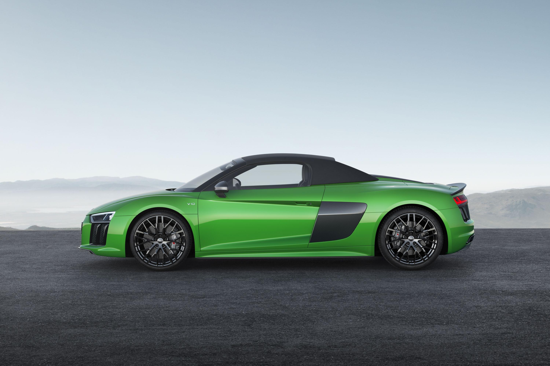 2018 Audi R8 Spyder V10 plus (Color: Micrommata Green) Side Wallpaper (8)
