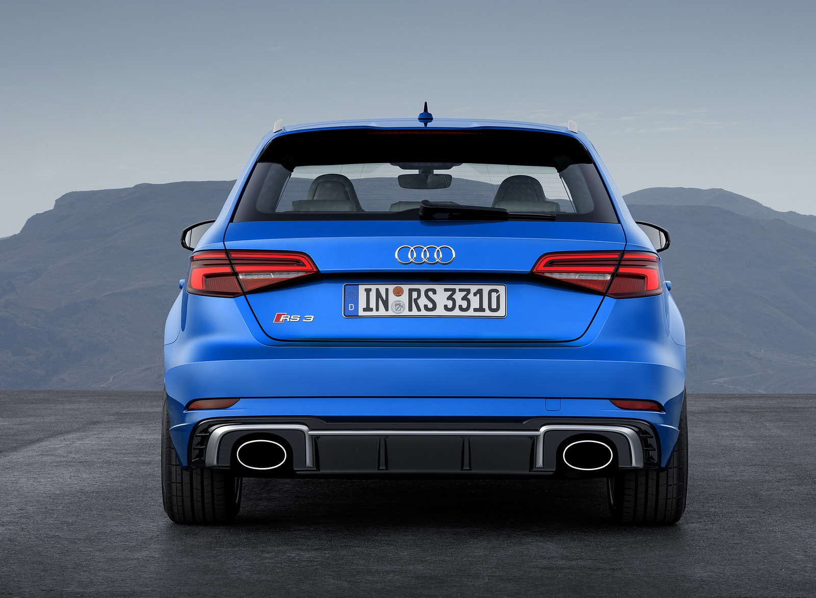2018 Audi RS 3 Sportback (Color: Ara Blue) Rear Wallpaper (10)