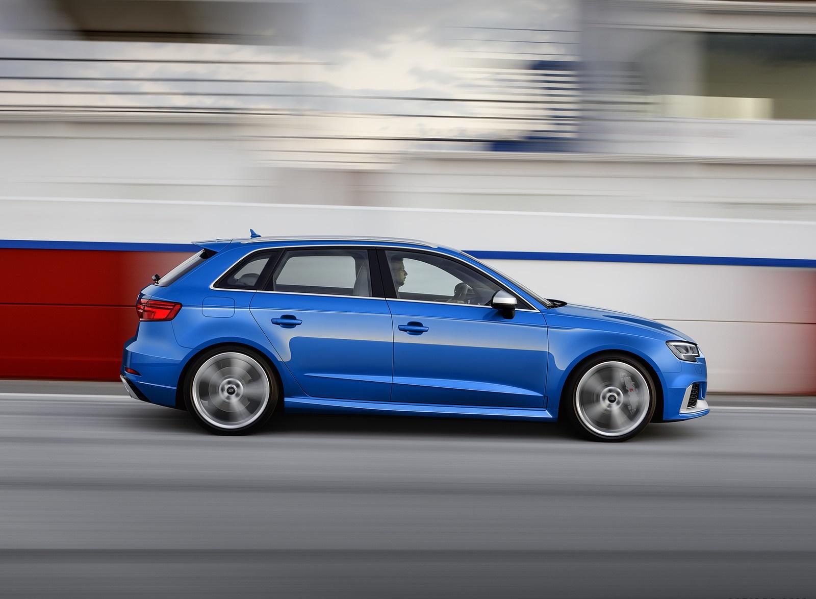 2018 Audi RS 3 Sportback (Color: Ara Blue) Side Wallpaper (2)