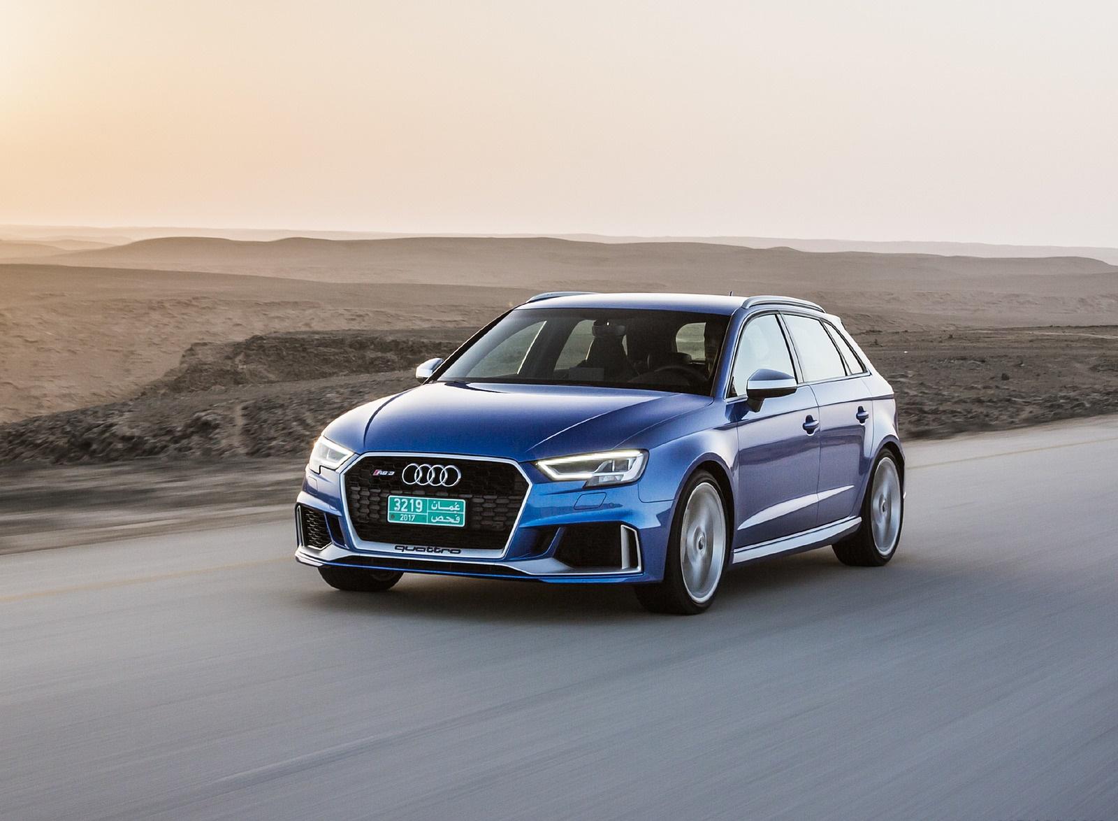 2018 Audi Rs 3 Sportback Color Mystic Blue Front Three Quarter