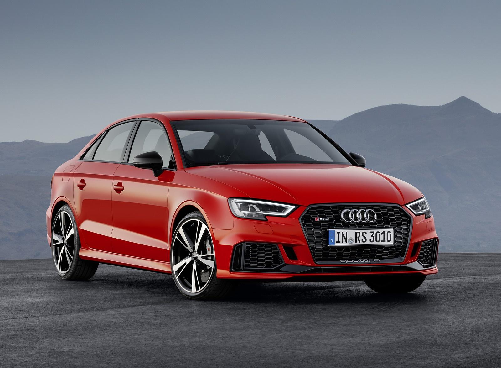 2018 Audi RS3 Sedan (Color: Catalunya Red) Front Three-Quarter Wallpapers (6)