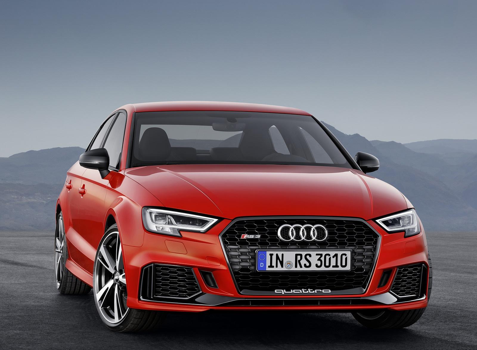 2018 Audi RS3 Sedan (Color: Catalunya Red) Front Wallpapers (7)