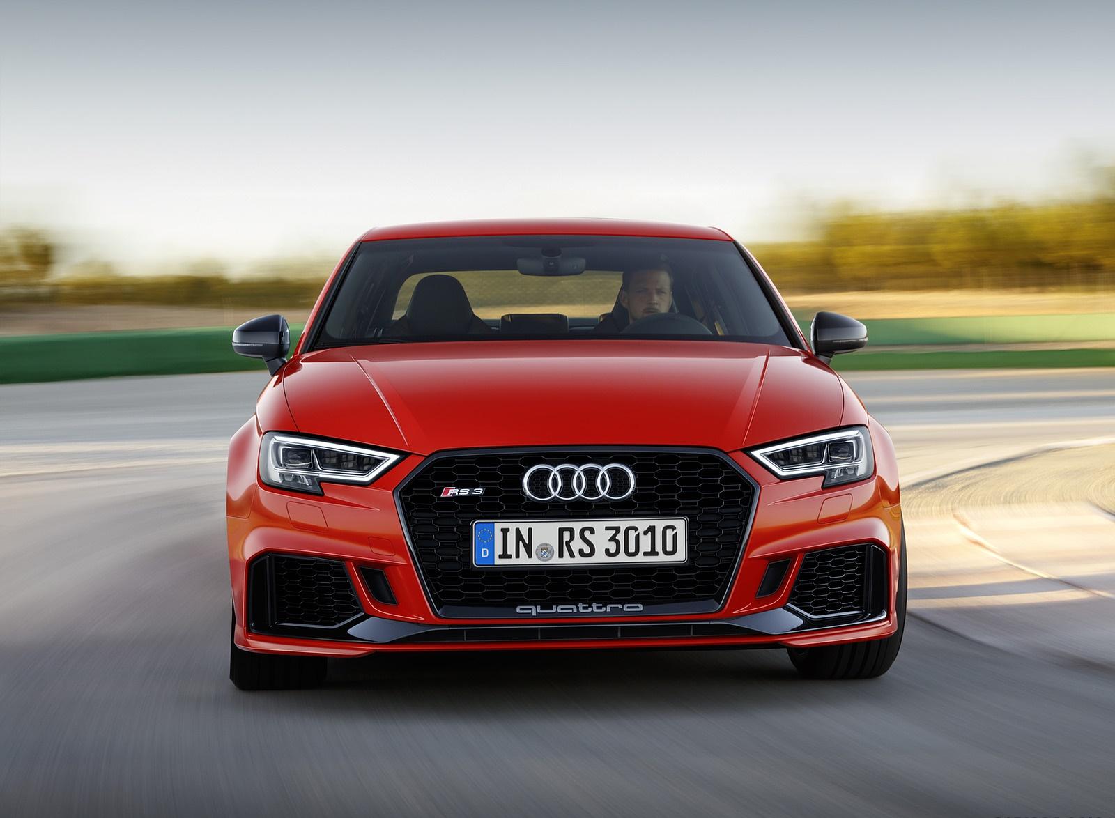 2018 Audi RS3 Sedan (Color: Catalunya Red) Front Wallpapers (2)