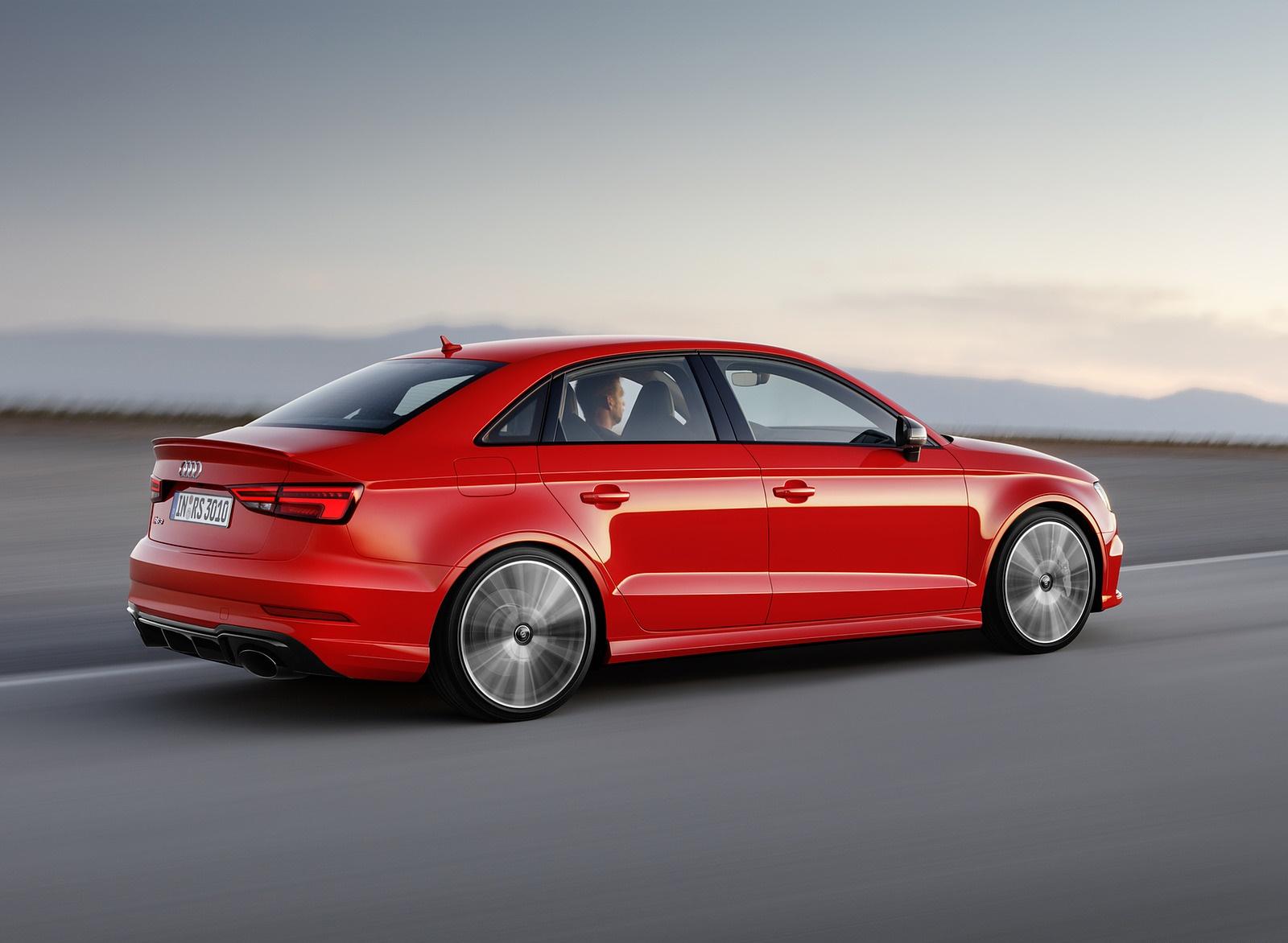 2018 Audi RS3 Sedan (Color: Catalunya Red) Rear Three-Quarter Wallpapers (3)