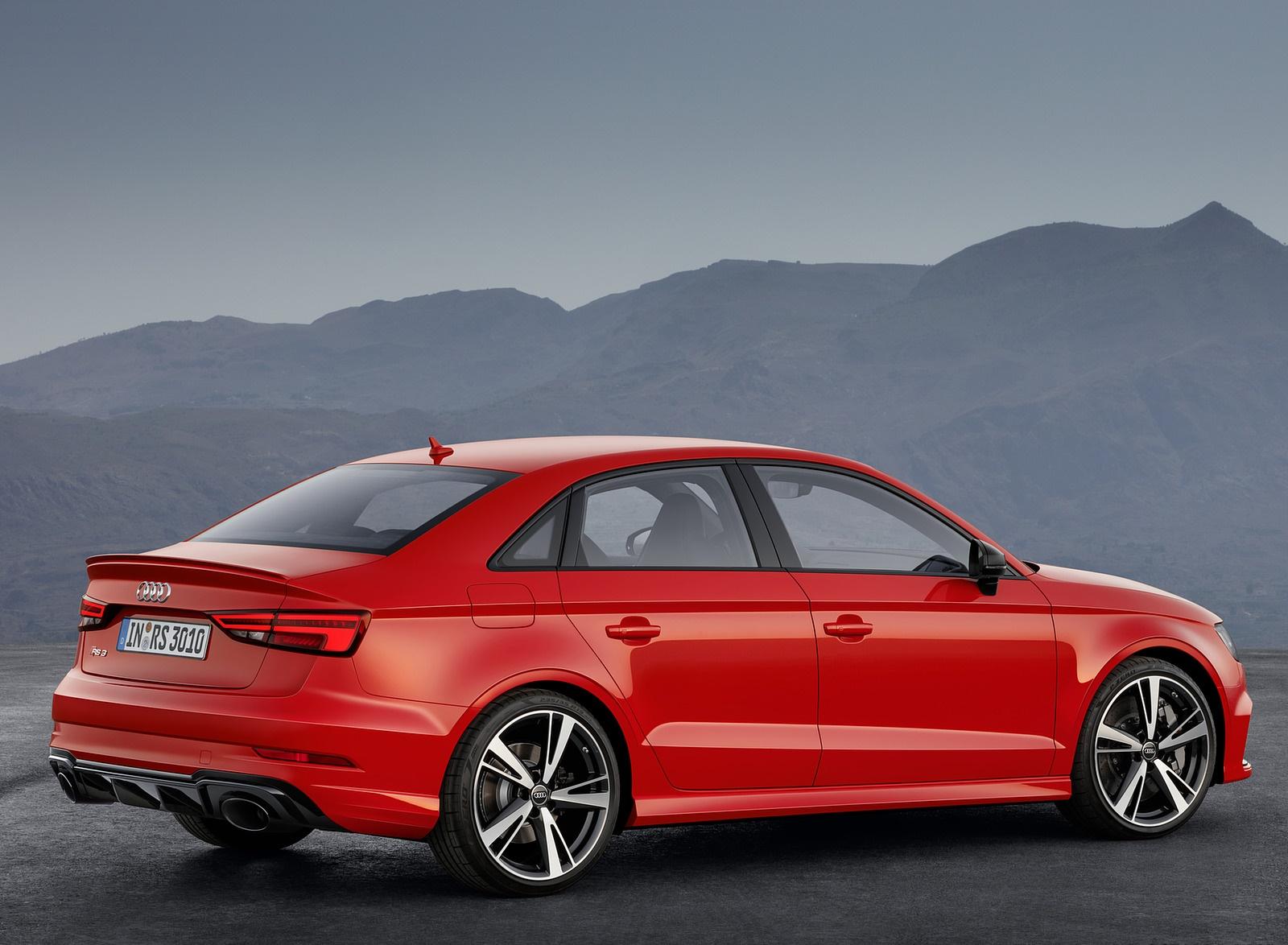 2018 Audi RS3 Sedan (Color: Catalunya Red) Rear Three-Quarter Wallpapers (8)