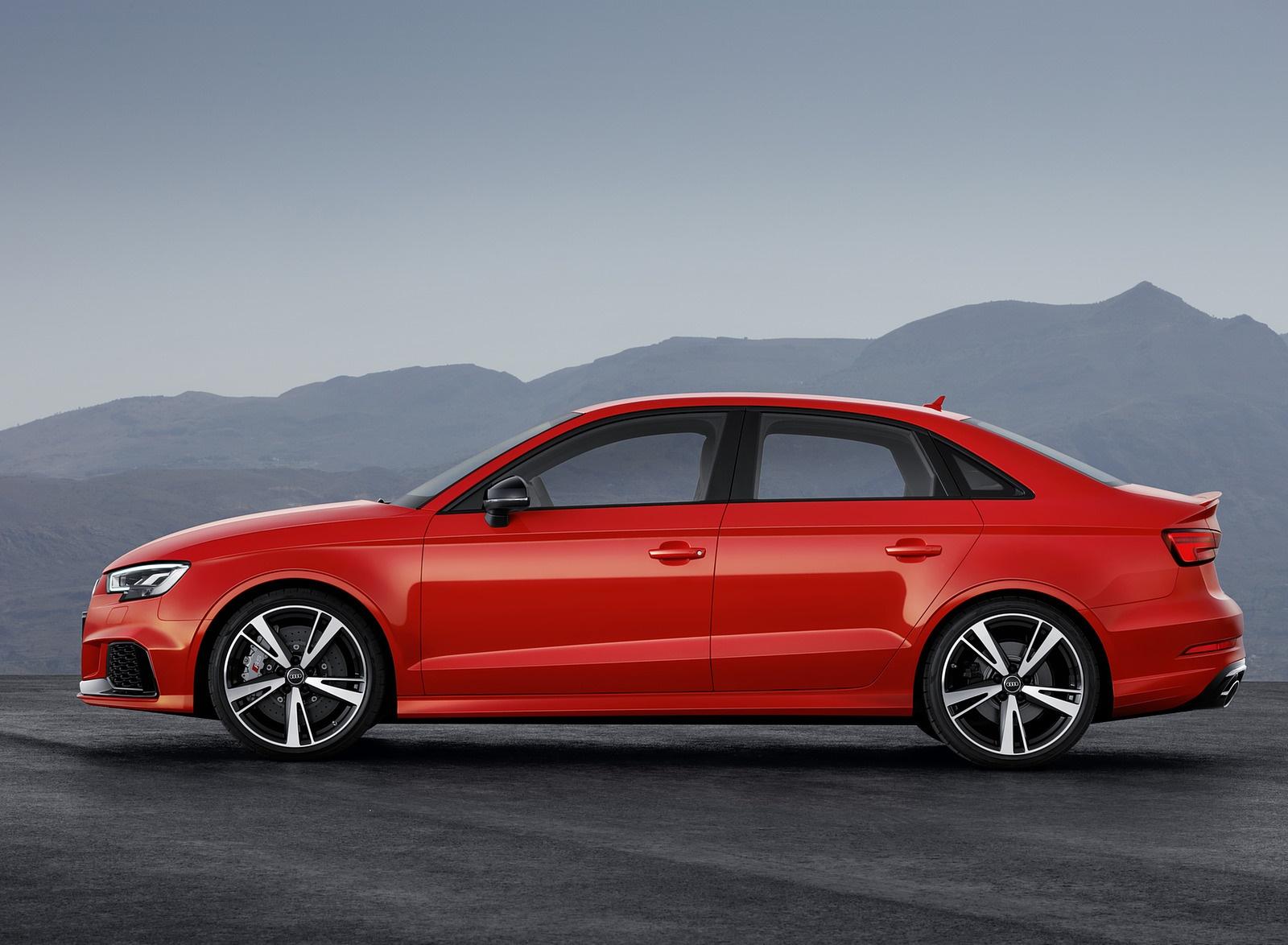 2018 Audi RS3 Sedan (Color: Catalunya Red) Side Wallpapers (9)