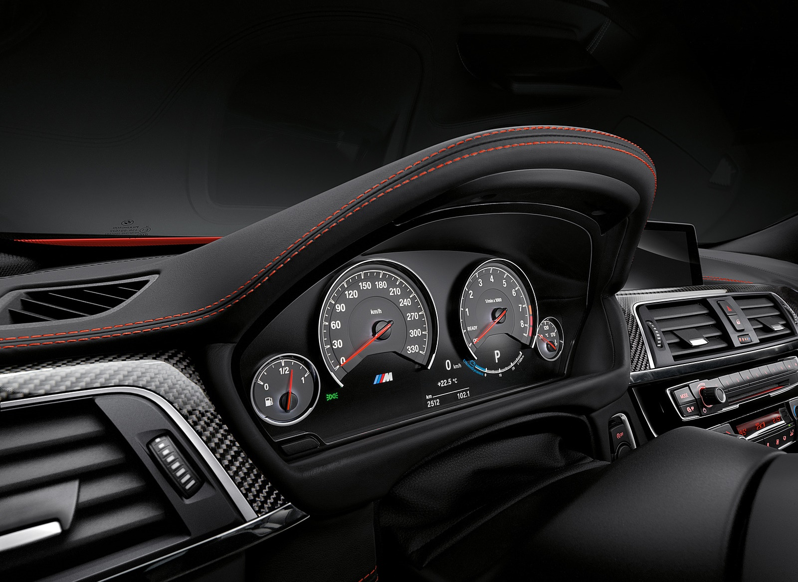 2018 BMW M4 Coupe Instrument Cluster Wallpapers (15)