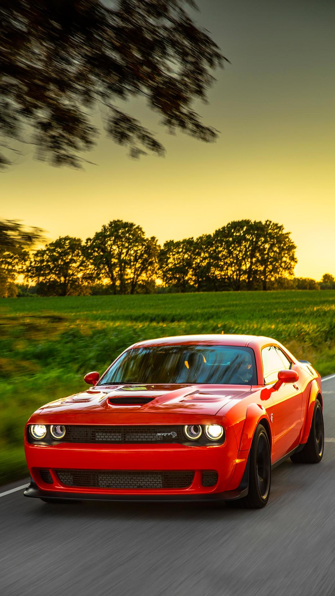 2018 Dodge Challenger Srt Hellcat Widebody Color Go Mango Front Wallpapers 56 Newcarcars