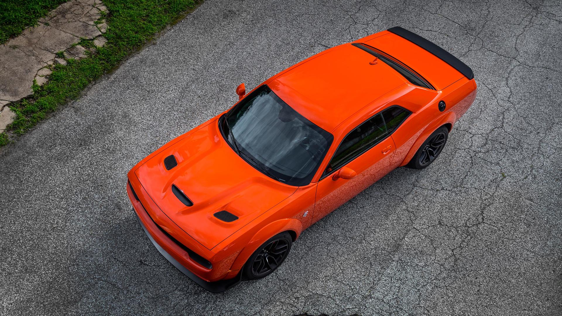 2018 Dodge Challenger SRT Hellcat Widebody (Color: Go Mango) Top Wallpaper