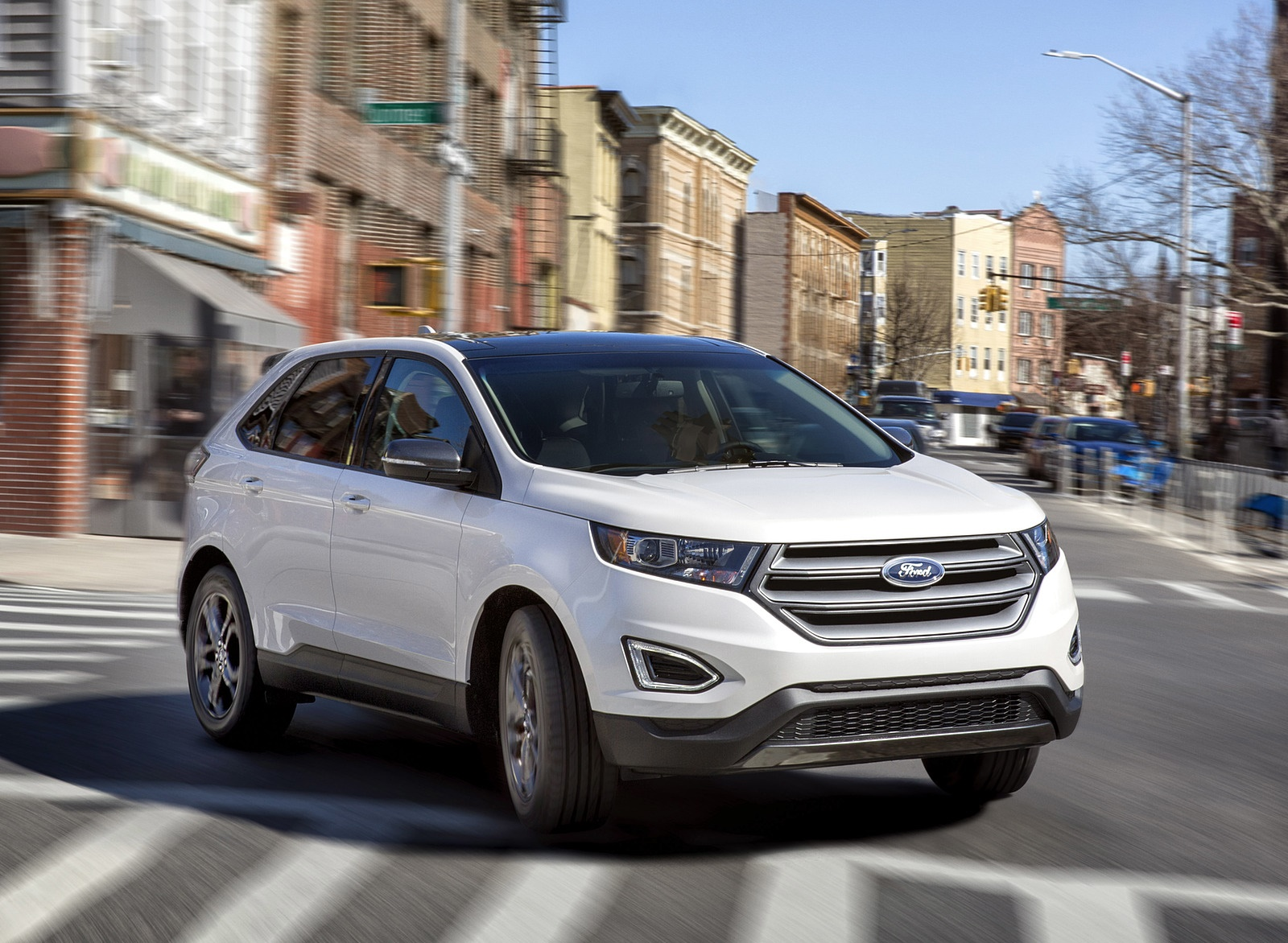2018 Ford Edge SEL Sport Appearance Package Front Three-Quarter Wallpapers (2)