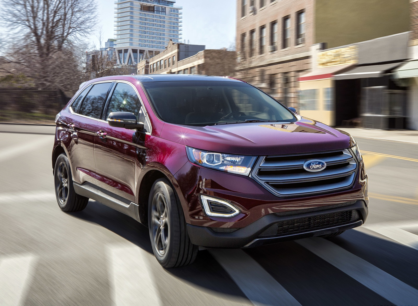 2018 Ford Edge SEL Sport Appearance Package Front Three-Quarter Wallpapers (8)