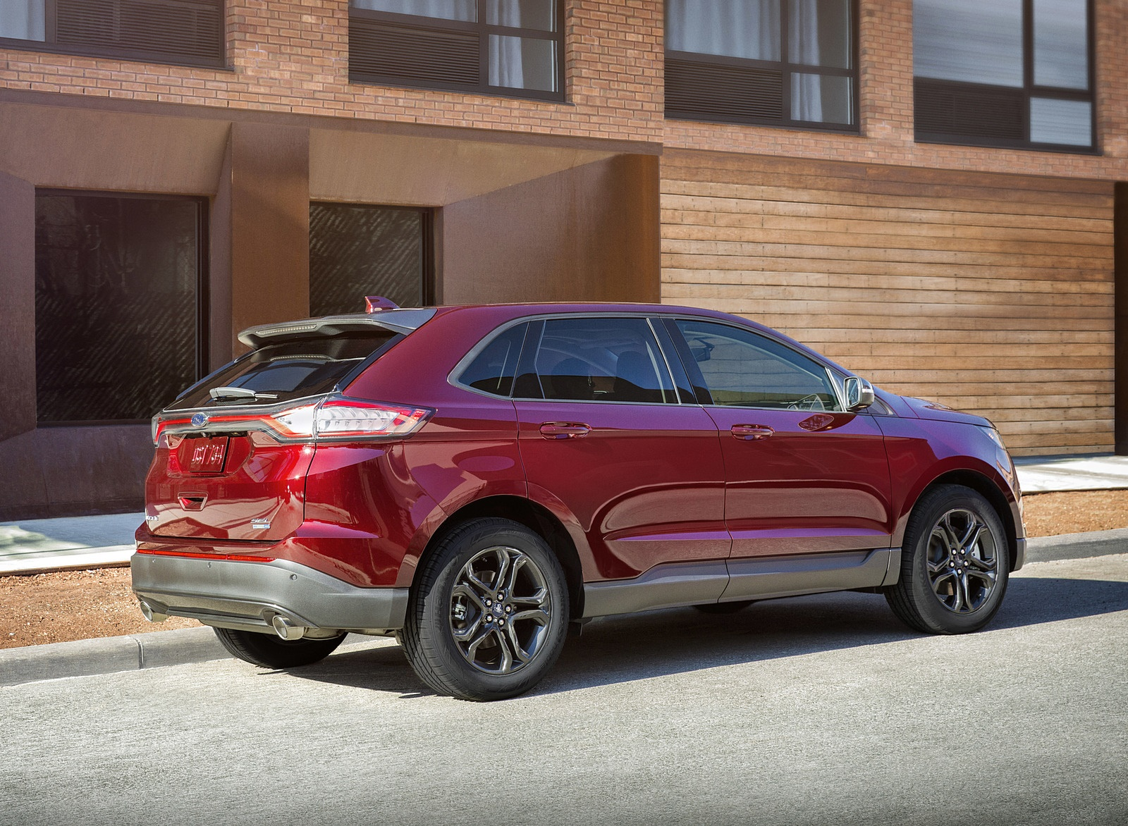 2018 Ford Edge SEL Sport Appearance Package Rear Three-Quarter Wallpapers (9)