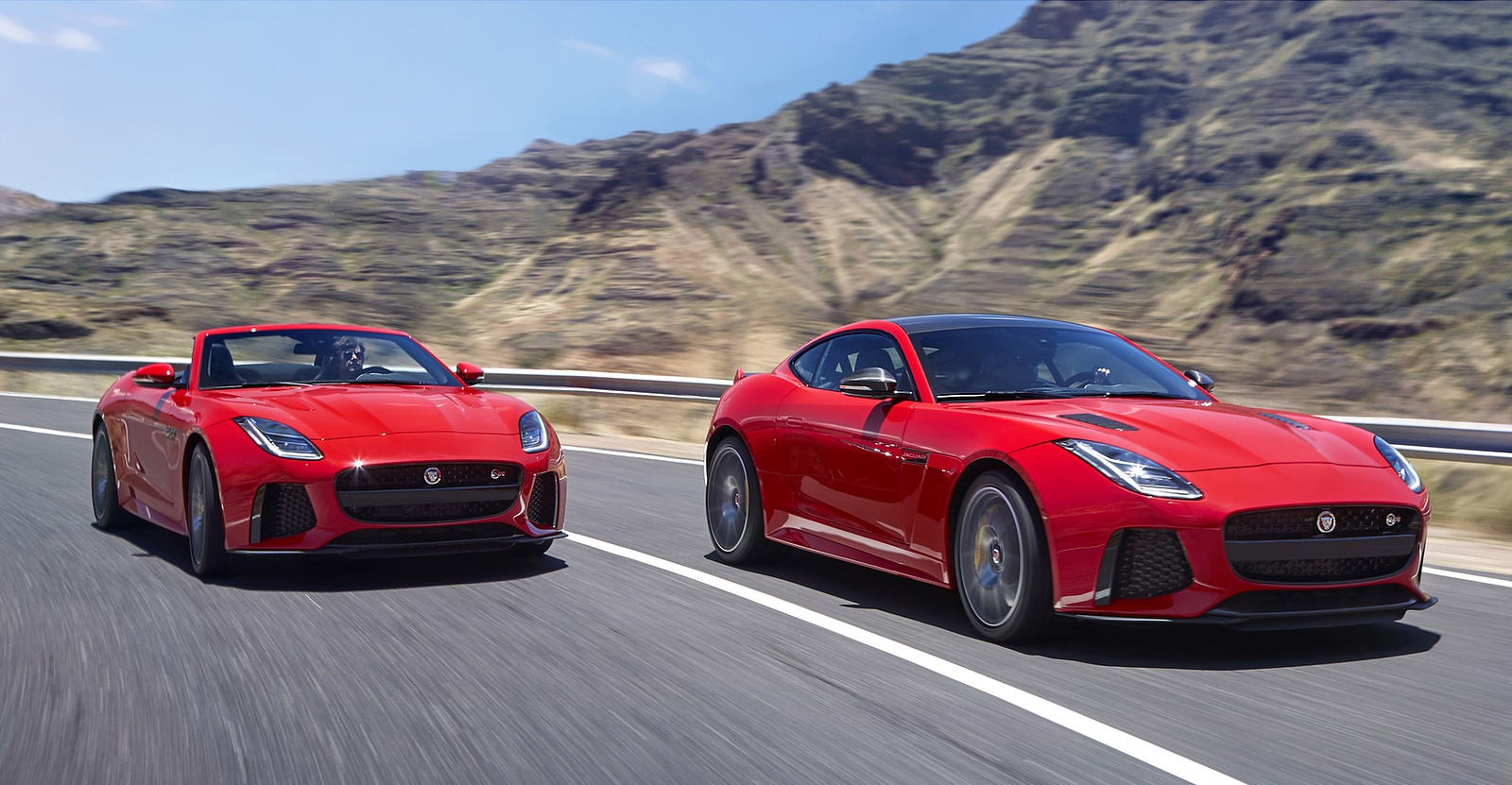 2018 Jaguar F-TYPE SVR Coupe and Convertible Front Three-Quarter Wallpapers (1)