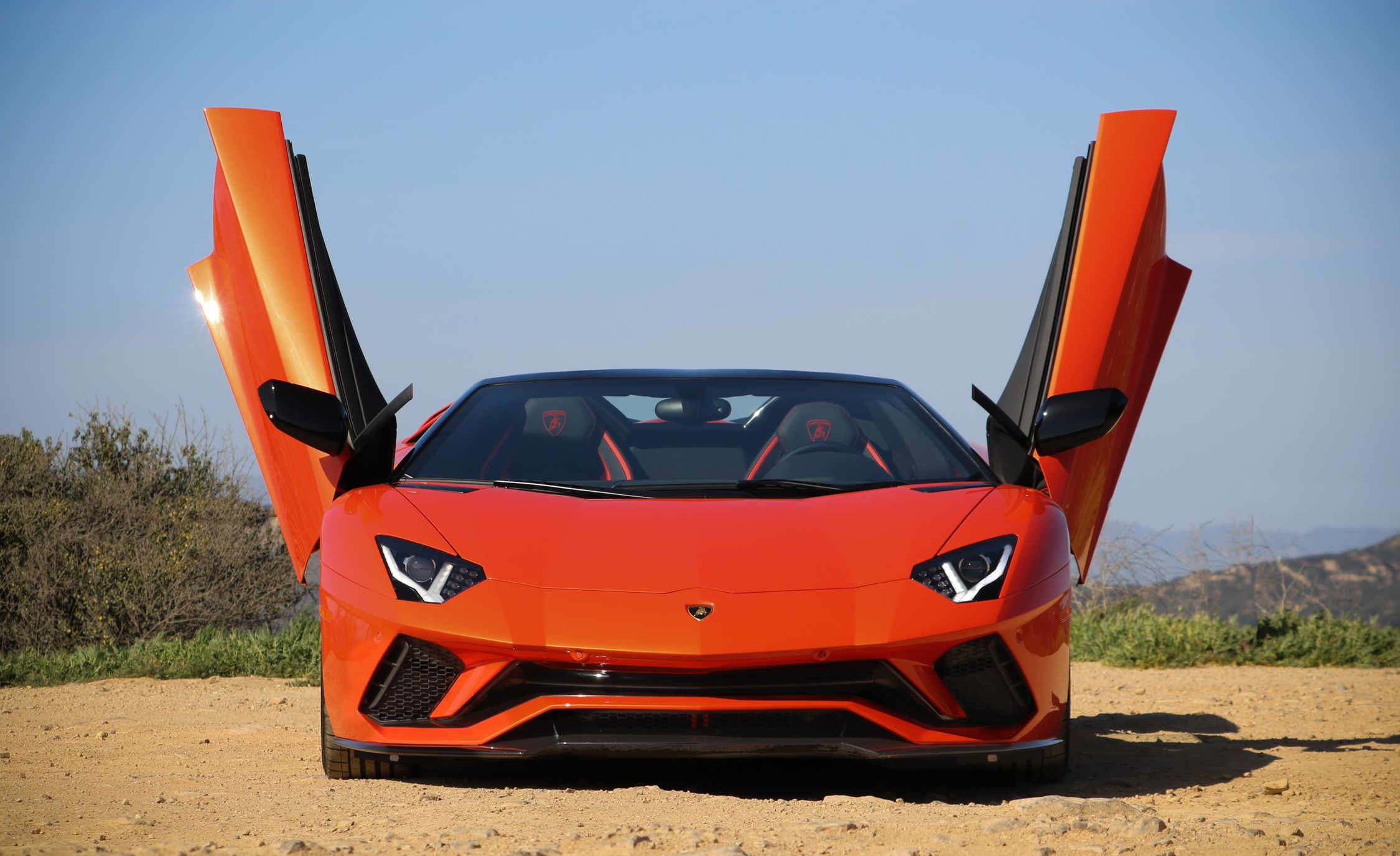 2018 Lamborghini Aventador S Roadster Doors Up Detail Wallpapers (2)