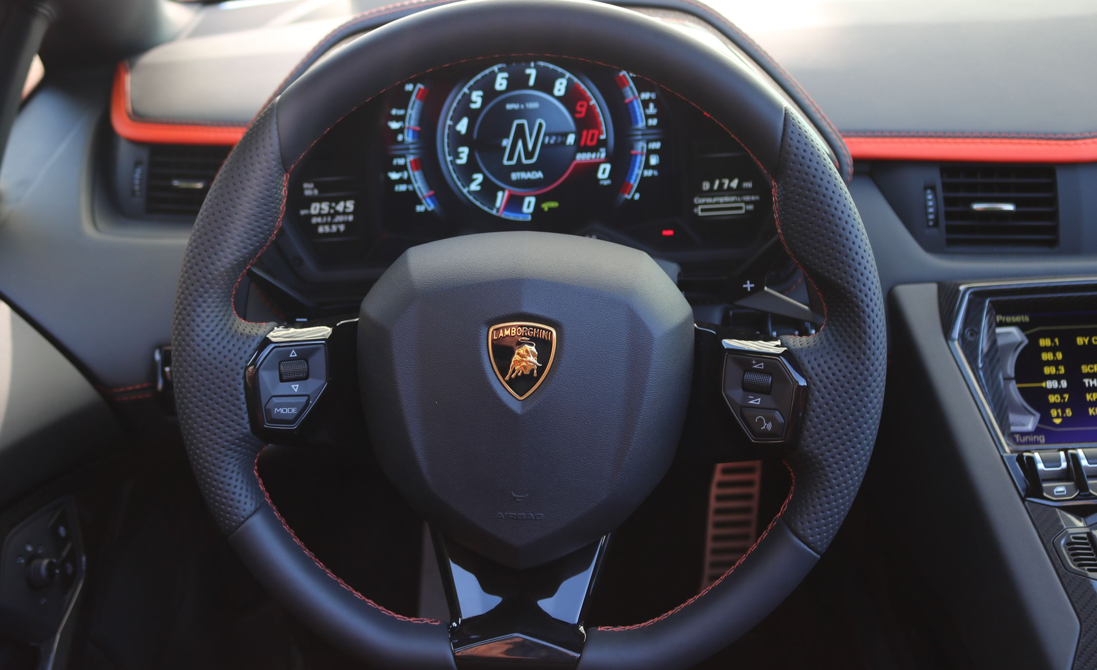 2018 Lamborghini Aventador S Roadster Interior Steering
