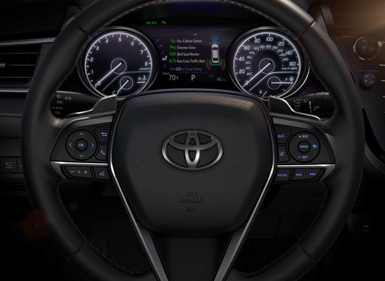 2018 Toyota Camry XSE Instrument Cluster Wallpapers (14)