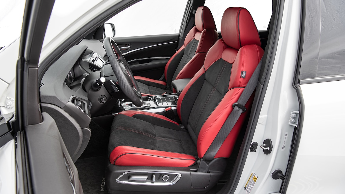 2019 Acura MDX A-Spec Interior Front Seats Wallpapers #23 of 31