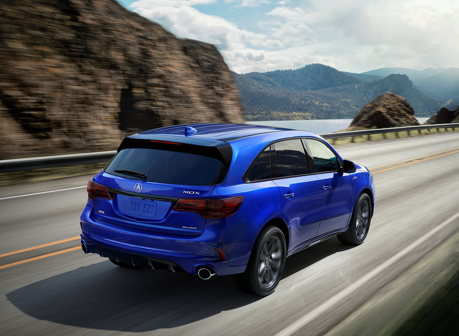 2019 Acura MDX A-Spec Rear Three-Quarter Wallpaper (2)