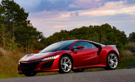 2019 Acura NSX (Color: Curva Red) Front Three-Quarter Wallpaper 450x275 (64)