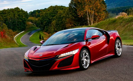 2019 Acura NSX (Color: Curva Red) Front Three-Quarter Wallpaper 450x275 (65)