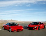 2019 Acura NSX (Color: Curva Red) and 1990 Acura NSX Front Three-Quarter Wallpapers 150x120 (7)