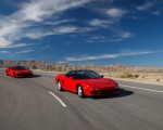 2019 Acura NSX (Color: Curva Red) and 1990 Acura NSX Front Three-Quarter Wallpaper 150x120 (2)