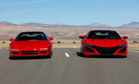 2019 Acura NSX (Color: Curva Red) and 1990 Acura NSX Front Wallpaper 450x275 (8)