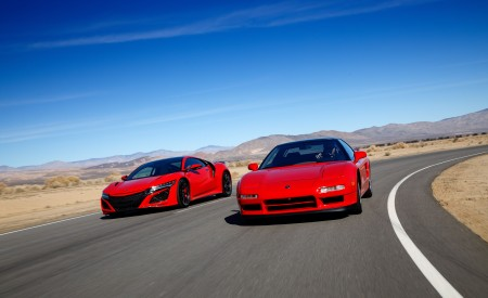 2019 Acura NSX (Color: Curva Red) and 1990 Acura NSX Front Wallpaper 450x275 (1)