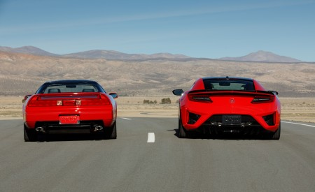 2019 Acura NSX (Color: Curva Red) and 1990 Acura NSX Rear Wallpaper 450x275 (9)