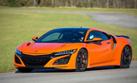 2019 Acura NSX (Color: Thermal Orange Pearl) Front Three-Quarter Wallpaper 450x275 (15)