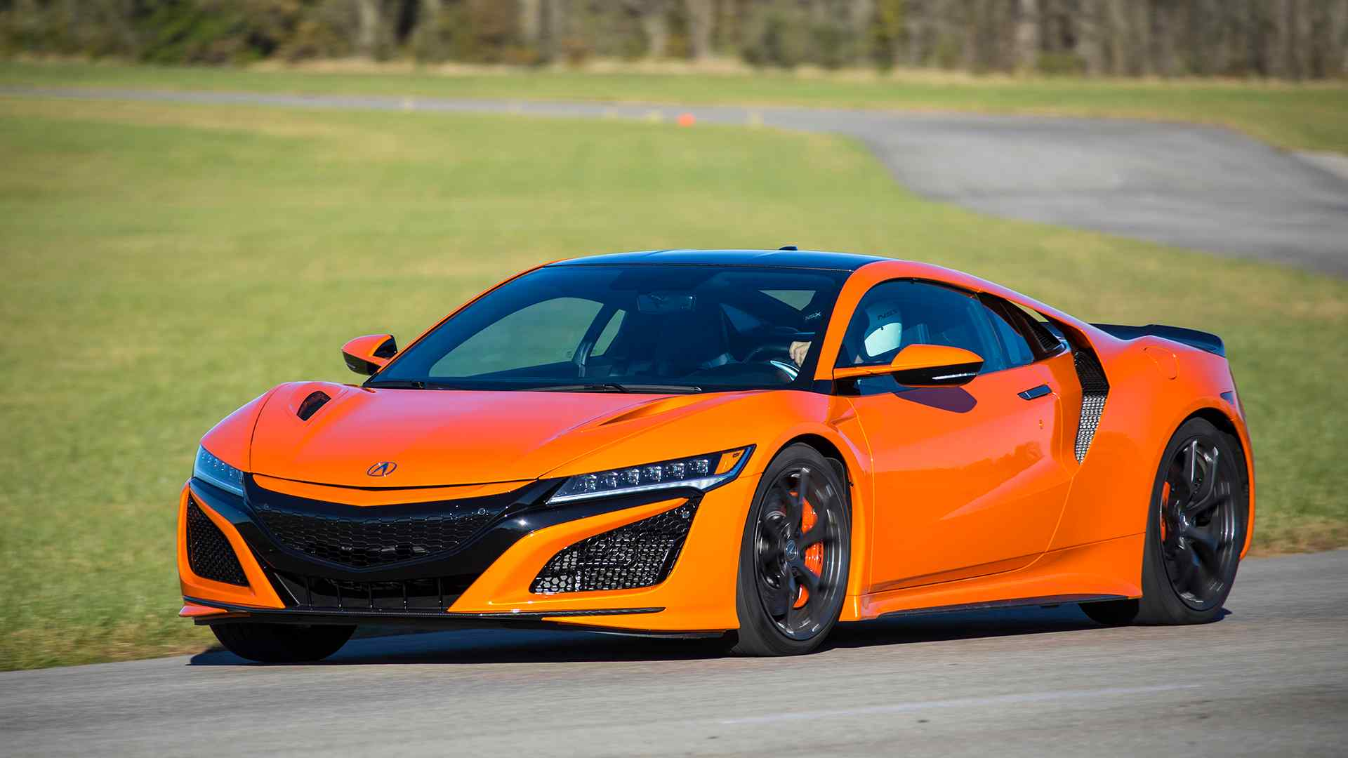 2019 Acura NSX (Color: Thermal Orange Pearl) Front Three-Quarter Wallpaper (15)