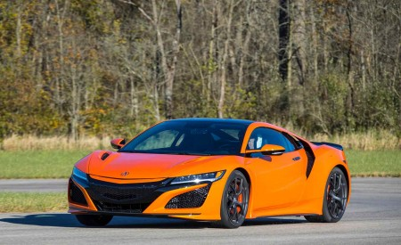 2019 Acura NSX (Color: Thermal Orange Pearl) Front Three-Quarter Wallpaper 450x275 (23)