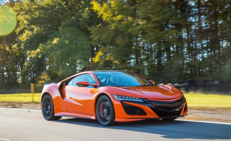 2019 Acura NSX (Color: Thermal Orange Pearl) Front Three-Quarter Wallpaper 450x275 (18)