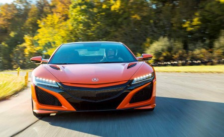 2019 Acura NSX (Color: Thermal Orange Pearl) Front Wallpaper 450x275 (21)