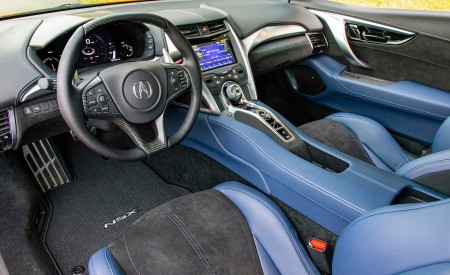 2019 Acura NSX (Color: Thermal Orange Pearl) Interior Cockpit Wallpaper 450x275 (49)
