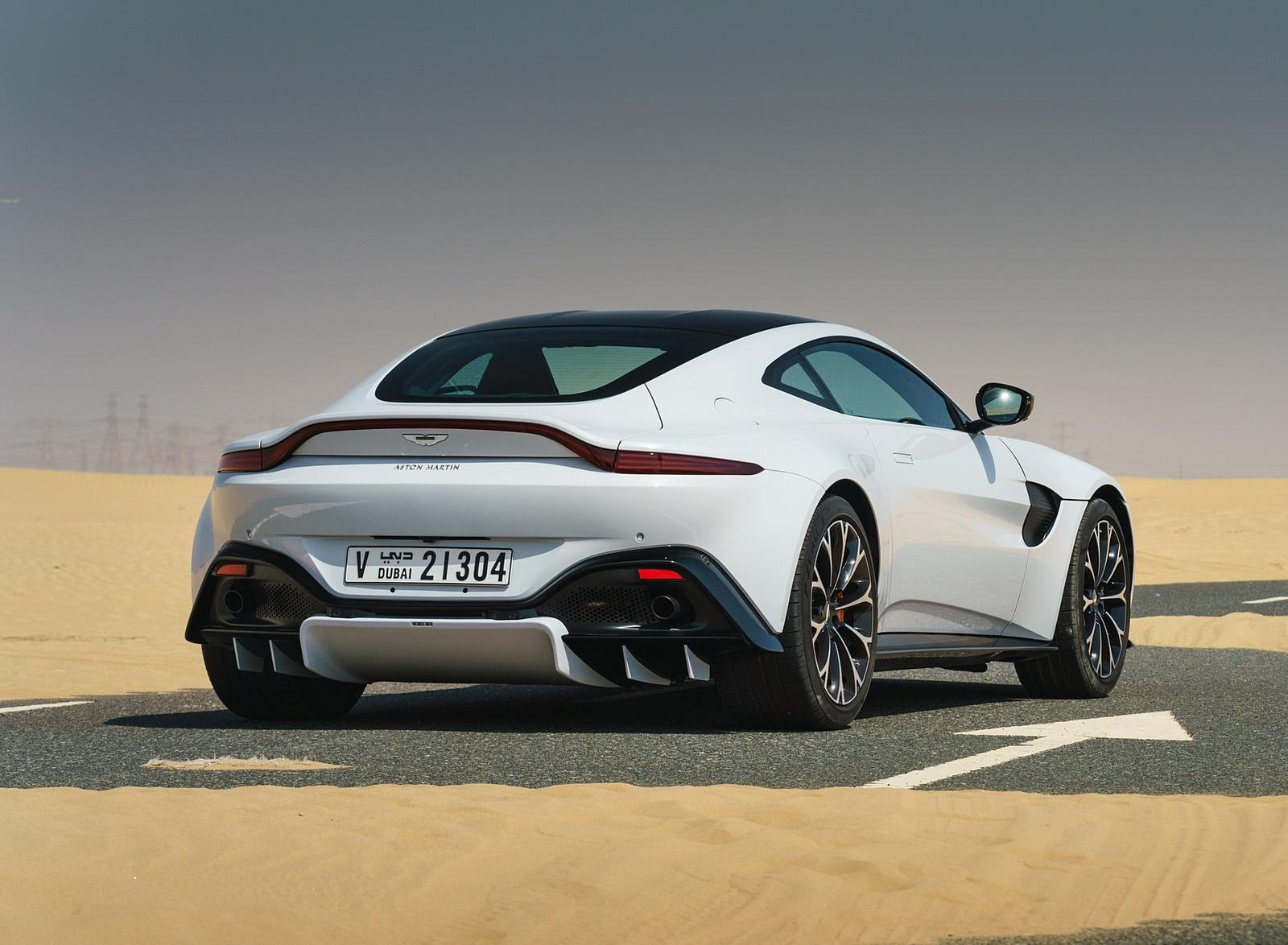 2019 Aston Martin Vantage Color White Stone Rear Three Quarter Wallpapers 102 Newcarcars